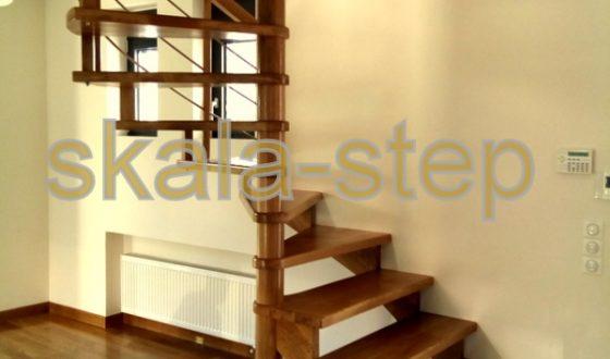 Σύνθετη κρεμαστή σκάλα από ξυλεία δρυος